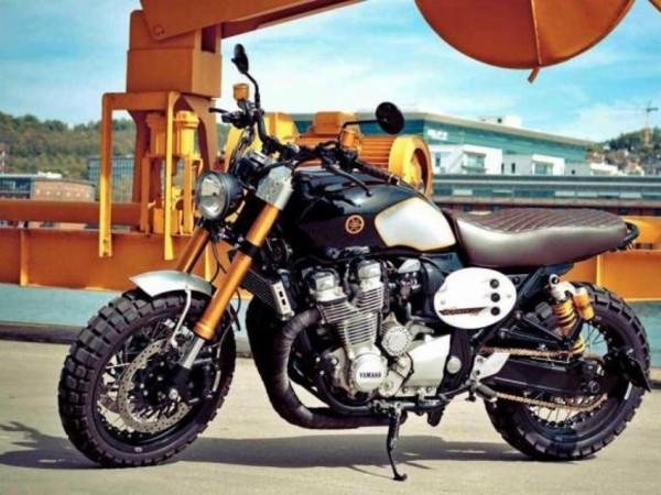 Yamaha XJR1300 Scrambler é custom para ninguém botar defeito 2