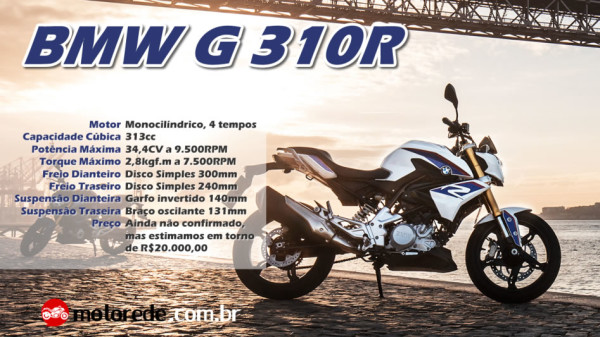 Nova BMW G310 R 2017 no Brasil