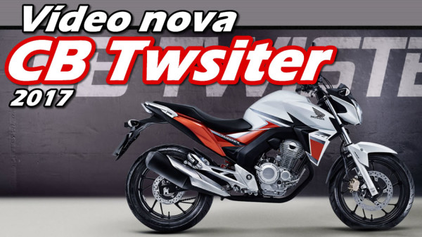 Vídeo nova Honda CB Twister 2017