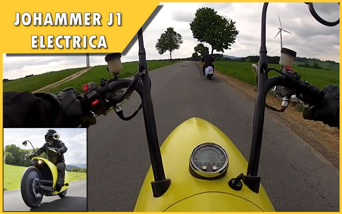 Video 03 - Johammer J1 Electric Motorcycle em ação