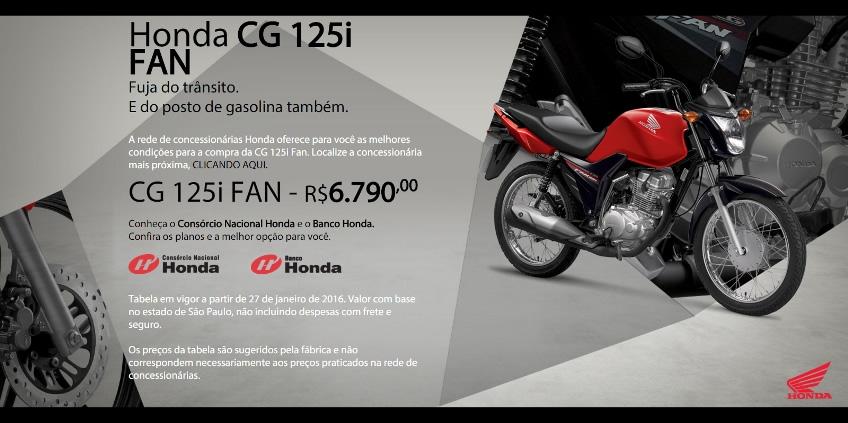 Nova Honda CG 125i Fan 2016 | Motorede