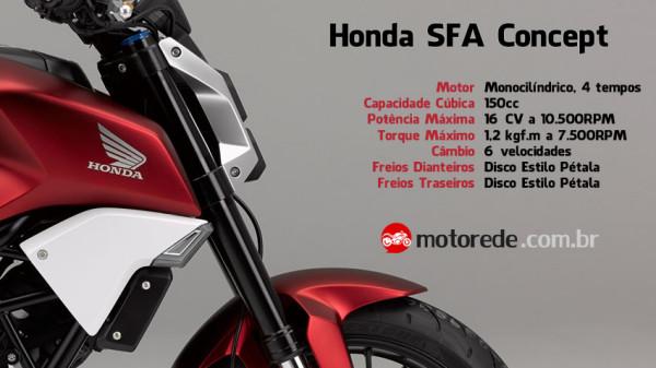 Conhece a naked Honda SFA Concept 150cc