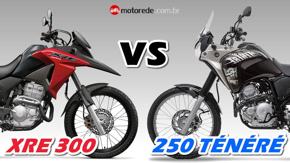 Comparação XRE 300 e 250 Ténéré 2016
