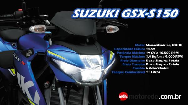 Vídeo Suzuki GSX-S150 Especificações Técnicas