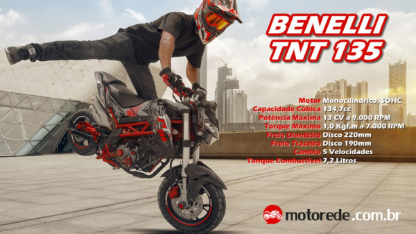 BENELLI TNT 135 2017 Especificações