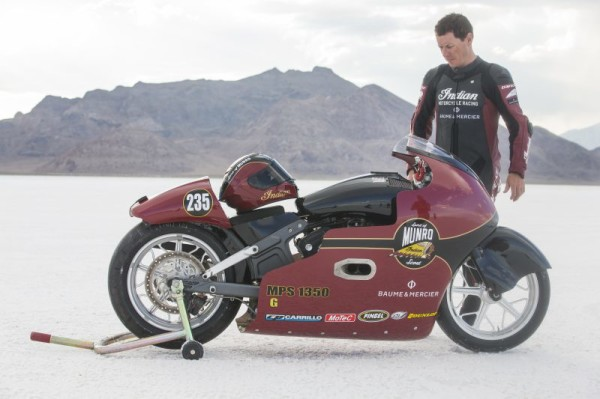 Indian Scout 299kmh bonneville