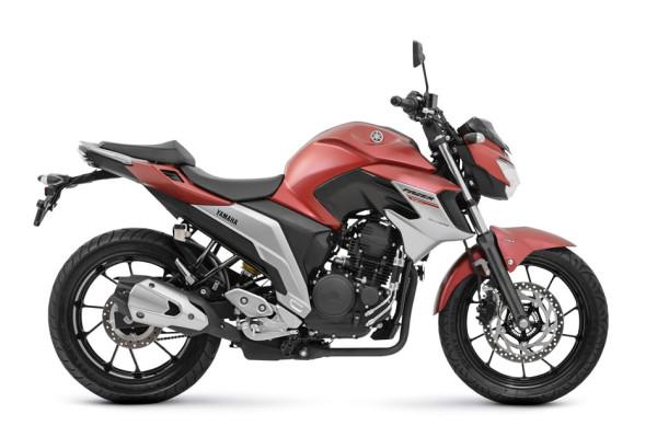 Nova Fazer 250 ABS 2108 Vermelha lateral