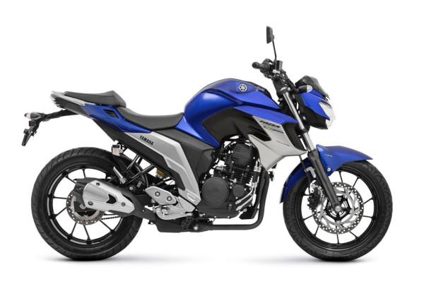 Nova Fazer 250 ABS 2108 Azul lateral
