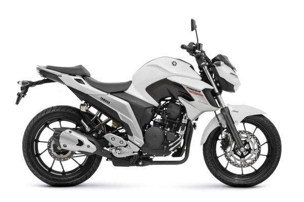 Nova Fazer 250 ABS 2108 Branca lateral