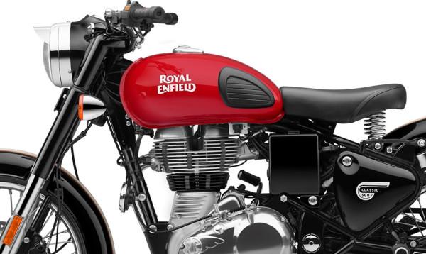 Royal Enfield Classic 500 Redditch Vermelha farol