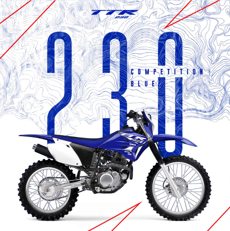 Yamaha TTR 230 2018 Competition Blue