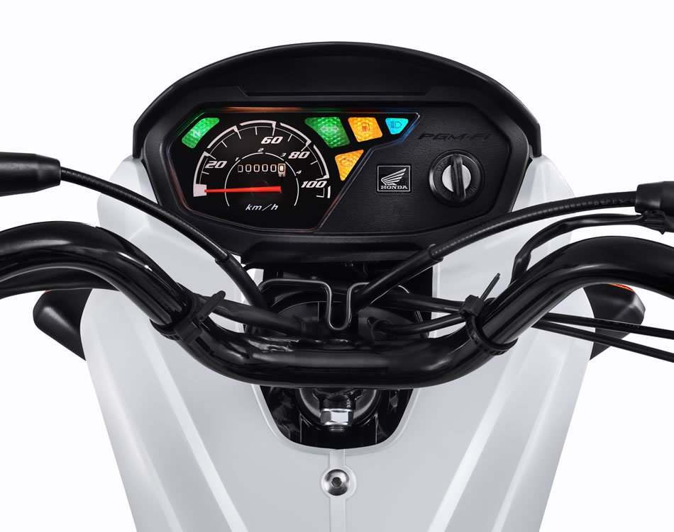 Nova Pop 110i 2018 Branca Painel Motorede