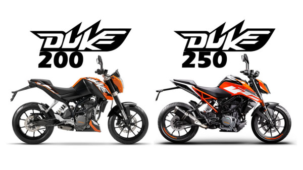 Comparação KTM 200 Duke e 250 Duke 2018