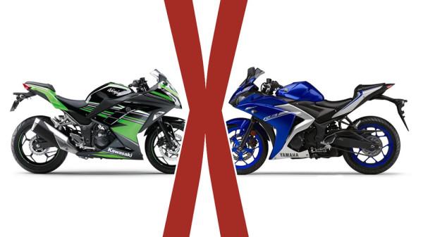 Comparação R3 vs Ninja 300