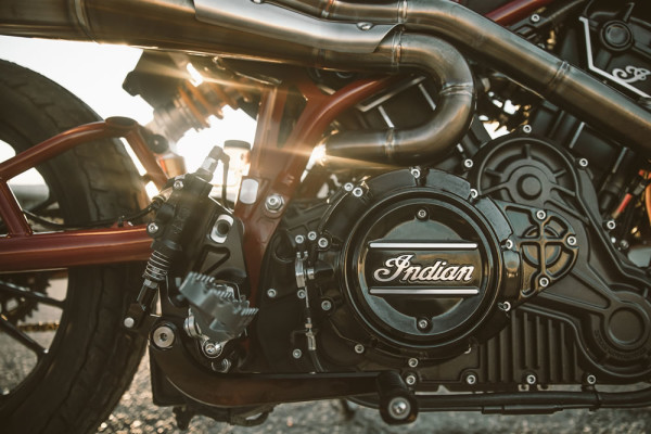 India Scout FTR750 Flat Track Motor