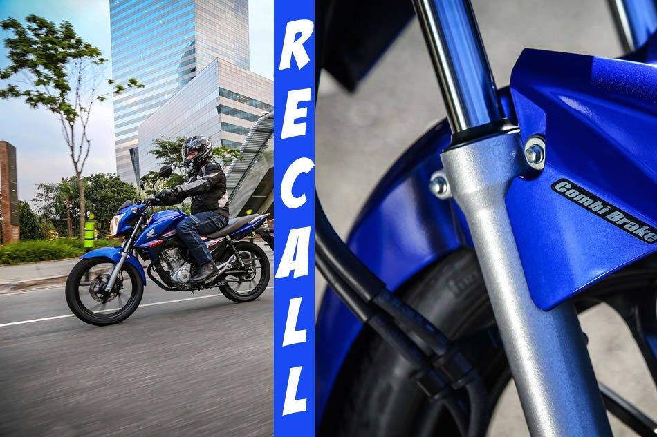 Recall Honda CG 160 2018 Suspensão Dianteira