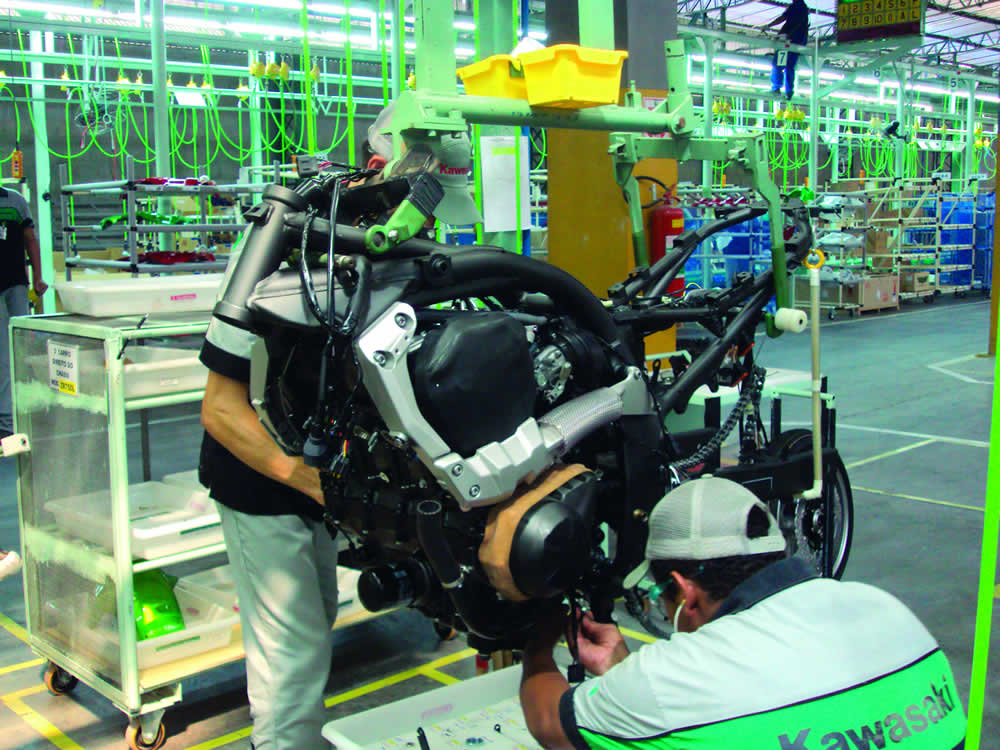Produção de Motos Brasil Kawasaki