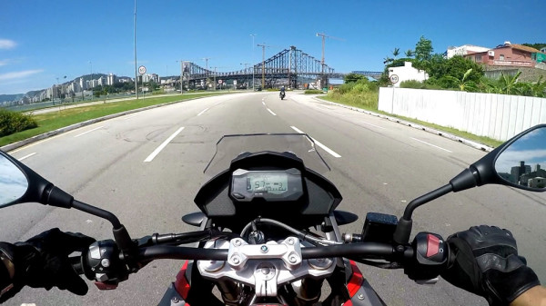 Test-ride BMW G 310 GS em Floripa