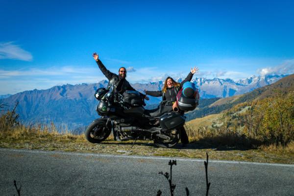 Largar Tudo Viajar de Moto Alpes Italianos