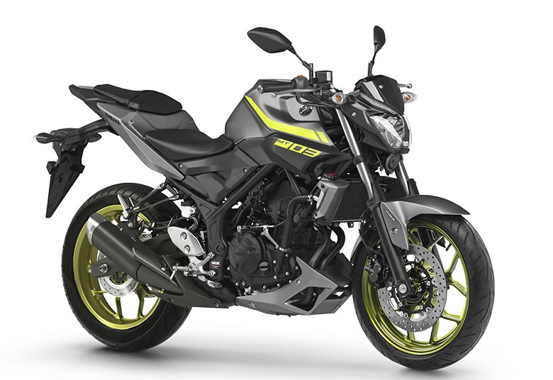 yamaha mt 03 2019 cinza com verde motorede. Black Bedroom Furniture Sets. Home Design Ideas