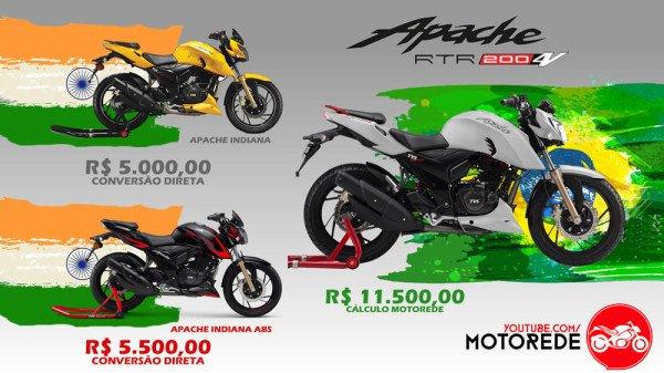 Dafra Apache 200 preço no Brasil