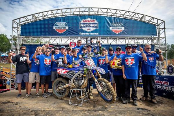 Yamaha YZ250F Campeã do AMA Motocross 2018 Equipe