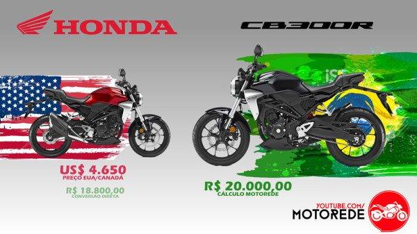 Nova CB 300R Preço no Brasil