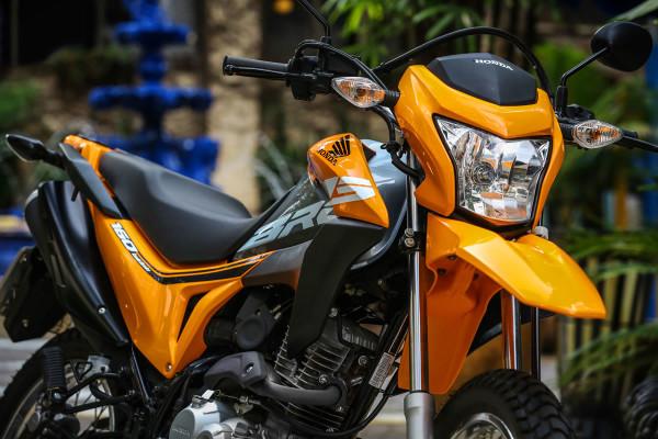 Nova Honda Bros 160 2019 Preço Laranja