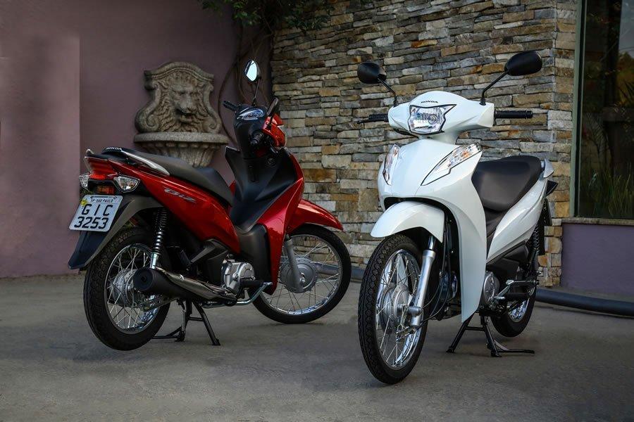 Honda Biz 2019 125 E 110i Vermelha E Branca Motorede