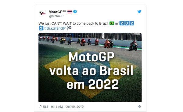 MotoGP no Brasil em 2022 confirmado