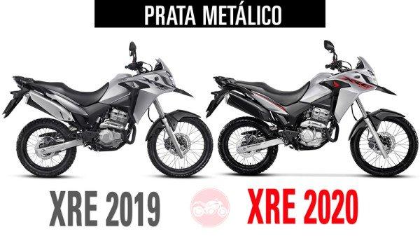 XRE300 2019 vs XRE300 2020 Prata