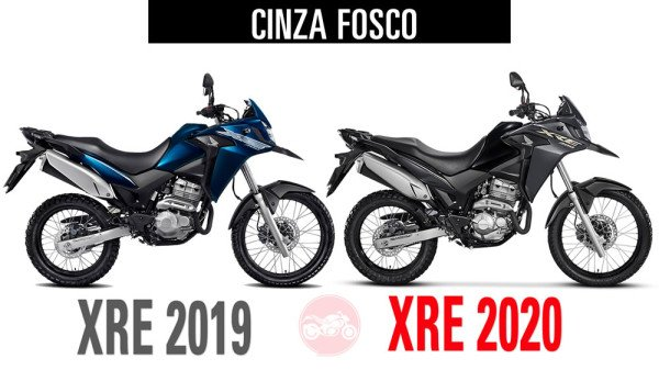 XRE300 2019 vs XRE300 2020 Cinza