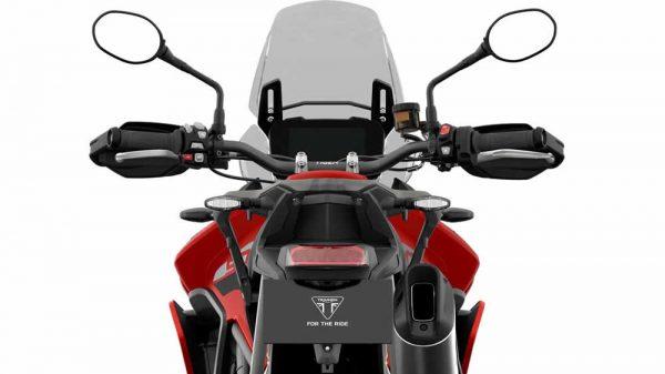Nova moto Tiger 900 vista de trás
