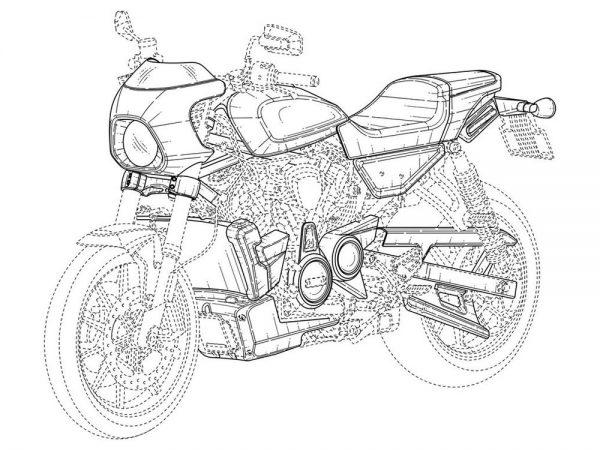 Imagem de registro da nova Harley-Davidson Café Racer