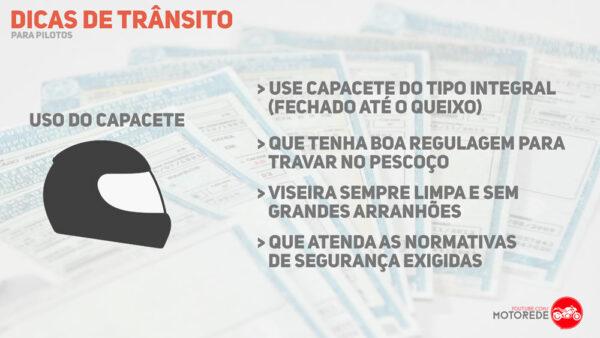 dicas de segurança no transito Capacete