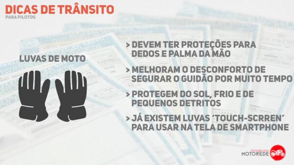 dicas de segurança no transito Luvas